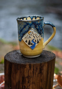 Mountain River Flow Mug - Spotted blue