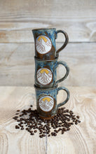 Load image into Gallery viewer, Sunrise in the Mountains Mug - cascading blue
