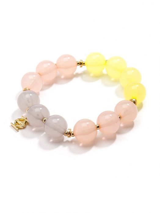 Colorblock Beaded Bracelet | Armreif - misses-b