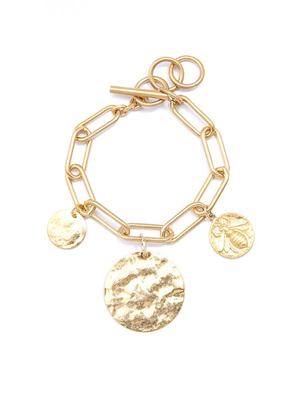 Bee Coin Bracelet - misses-b