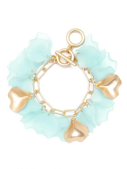 Sheer Petals Chain Bracelet Jewelry | Armreif - misses-b