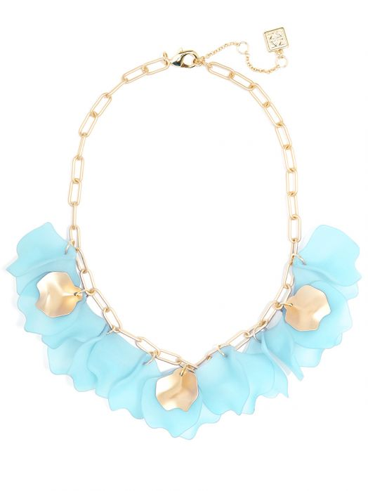 Sheer Layered Petals Gold Collar Necklace Jewelry | Halskette - misses-b