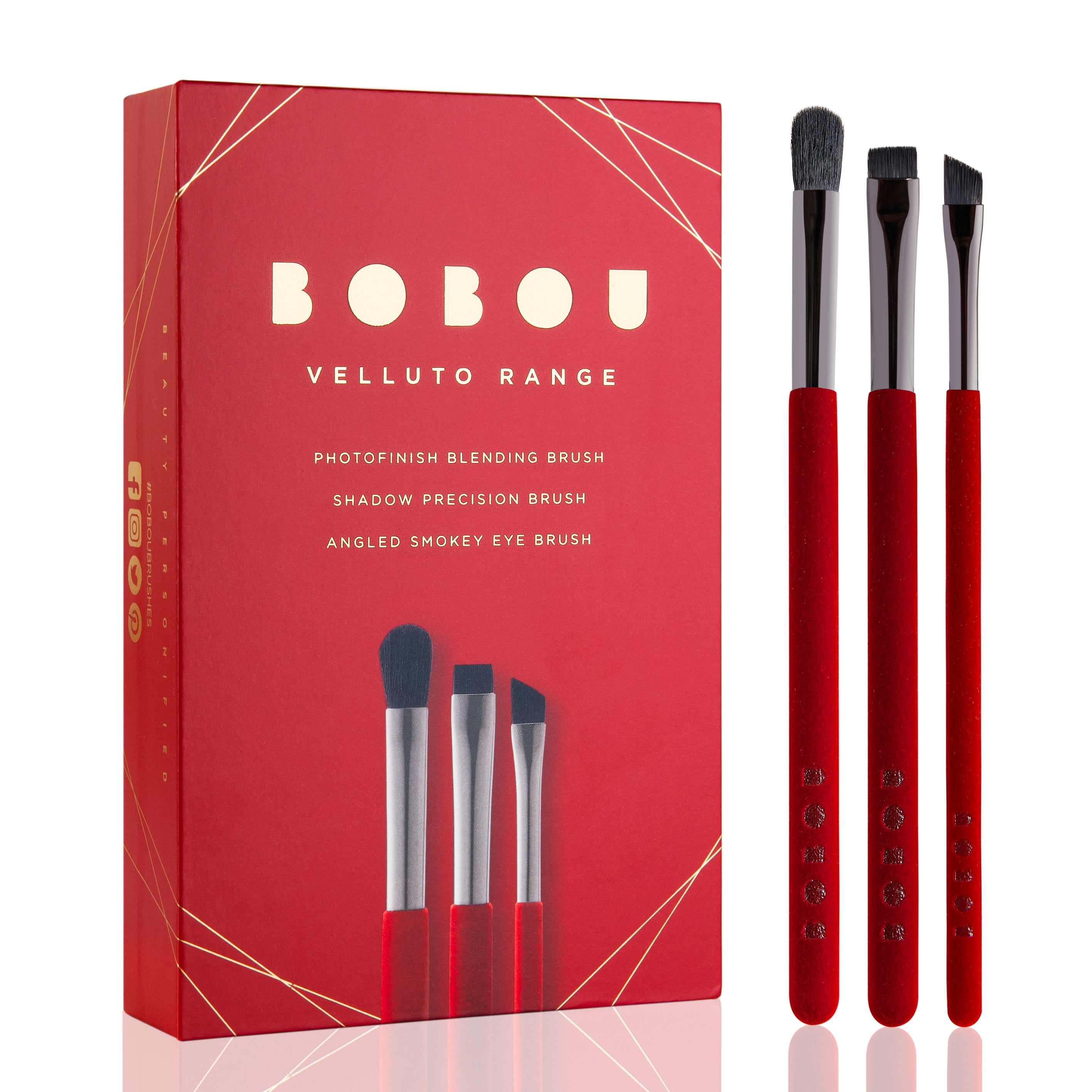 VELLUTO™ RANGE PROFESSIONAL LUXURY EYE MAKEUP BRUSH SET - Boboubeauty
