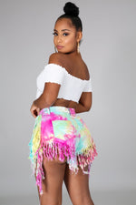 Two Piece Short Sleeve Tasha On My Way Tiedye Short Set Mini Dress