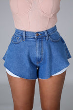 Off Shoulder Open Back Sleeveless Jessica The Bomb Denim Short Set Mini Dress