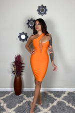 Bodycon One Shoulder High Waist Sleeveless Shannon Lux Bandage Clubwear Dress