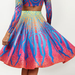 CRYPTIC FREQUENCY CIRCLE SKIRT