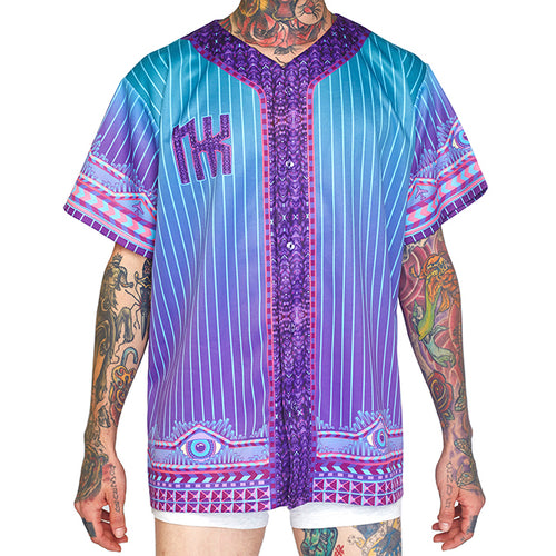 LOGIC LATTICE UNISEX BASEBALL JERSEY