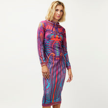 Load image into Gallery viewer, CRYPTIC FREQUENCY JUMPER DRESS