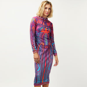 CRYPTIC FREQUENCY JUMPER DRESS
