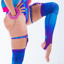 Load image into Gallery viewer, DIGITAL DRIFT THIGH HIGHS