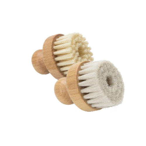 Small circular natural hair conservation brushes - expmshop