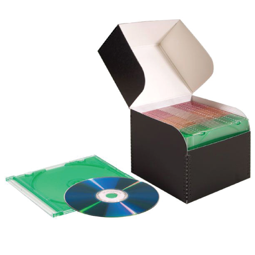 Flip Top Lid CD / DVD Storage Box - expmshop