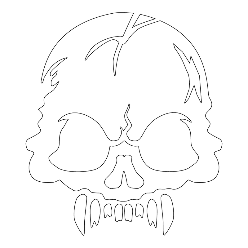 Inbloom Stickers Brutal Skull Car Sticker