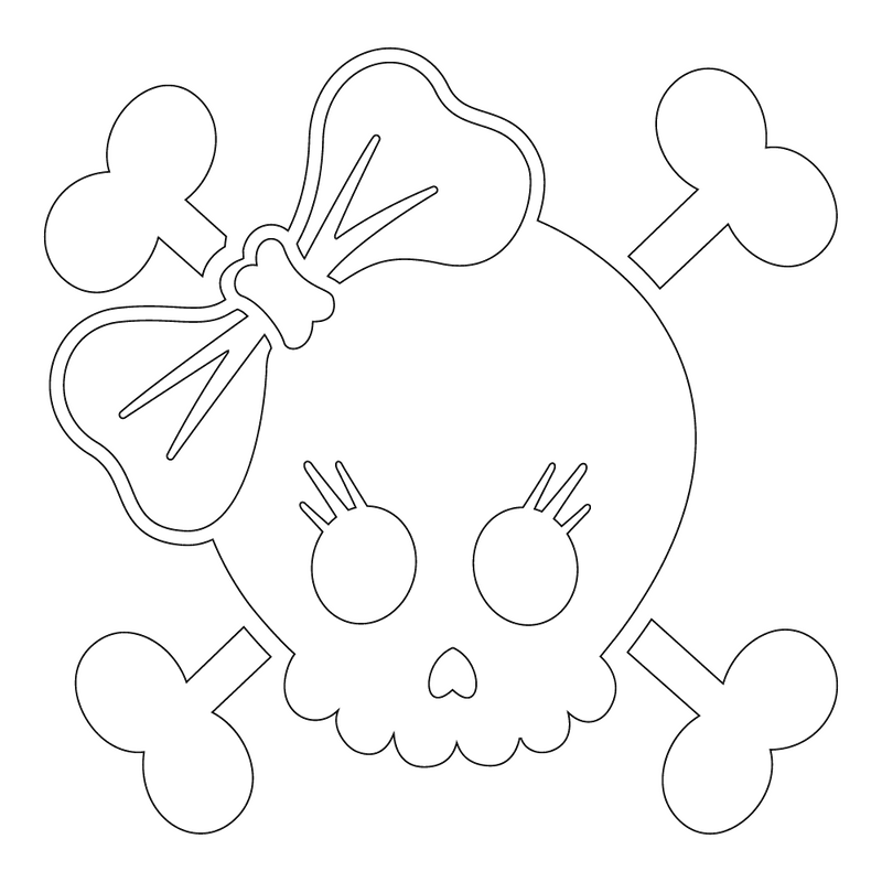 Inbloom Stickers Lucy Skull Car Sticker