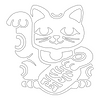 Inbloom Stickers Lucky Cat Car Sticker
