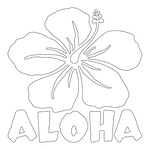 Inbloom Stickers Aloha Hibiscus Car Sticker