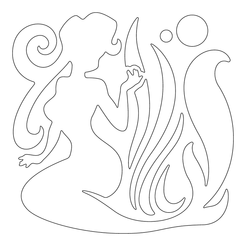 Inbloom Stickers Sitting Mermaid Car Sticker
