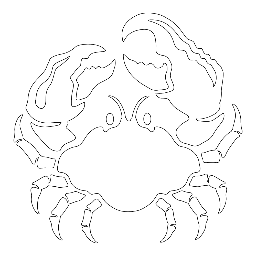 Inbloom Stickers Crabby Crab Car Sticker