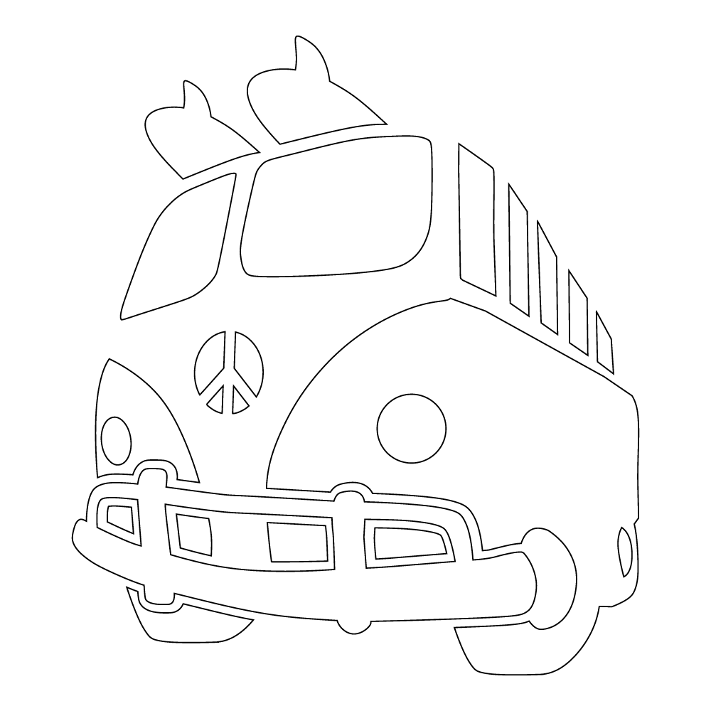 Inbloom Stickers Peace Bus Car Sticker