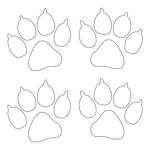 Inbloom Stickers Paw Prints Car Sticker