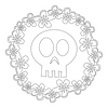 Inbloom Stickers Flowery Skull Car Sticker
