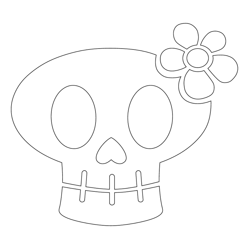 Inbloom Stickers Big Girly Skull Car Sticker