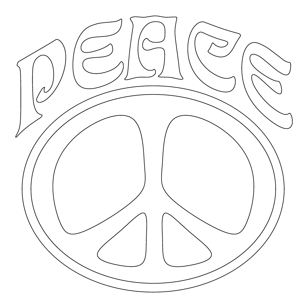 Inbloom Stickers Big Peace Sign Car Sticker