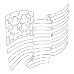 Inbloom Stickers American Flag Car Sticker