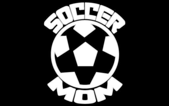 Inbloom Stickers Soccer Mom Soccer Ball Car Sticker