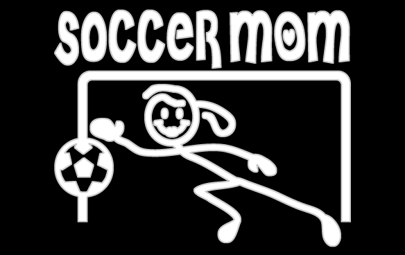 Inbloom Stickers Soccer Mom Goalie Car Sticker