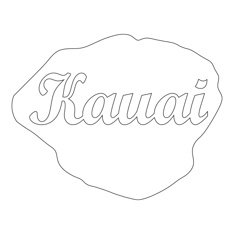 Inbloom Stickers Kauai Island Car Sticker