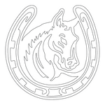 Inbloom Stickers Horse with Horseshoe Sticker