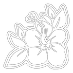 Inbloom Stickers Corner Hibiscus Car Sticker