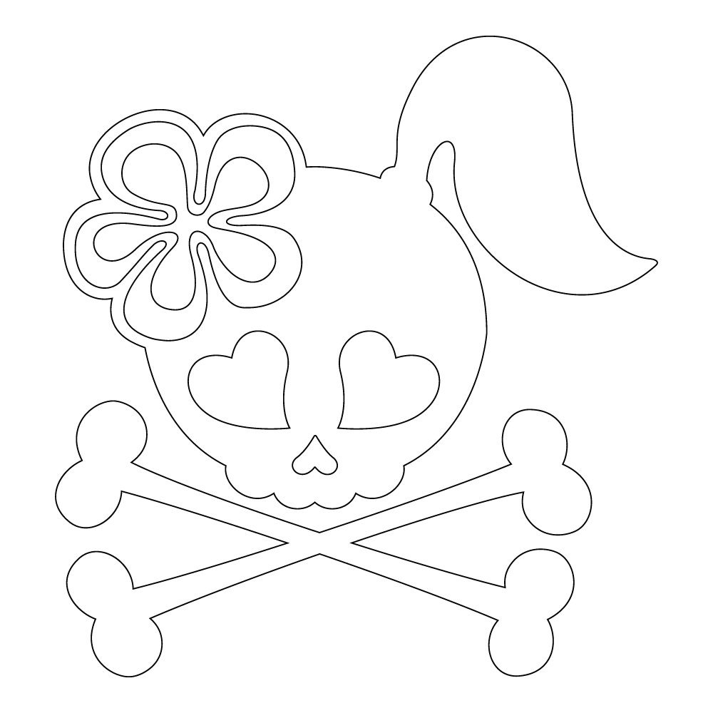 Inbloom Stickers Trixie Skull Car Sticker