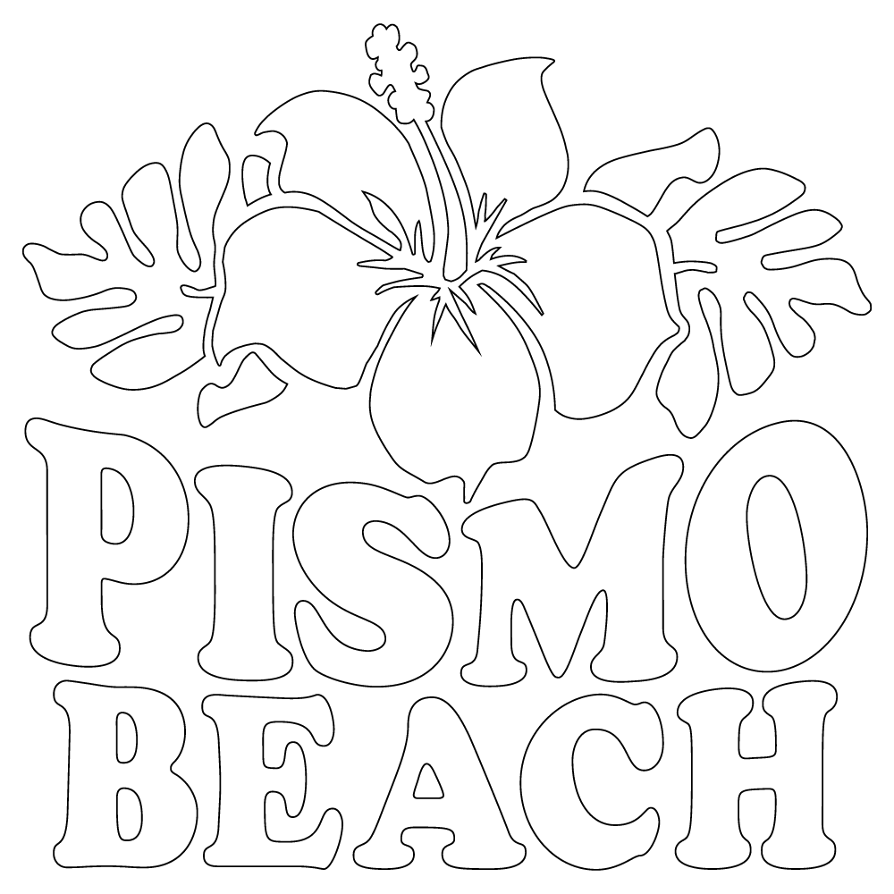 Inbloom Stickers Pismo Beach Flower Car Sticker