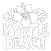Inbloom Stickers Myrtle Beach Flower Car Sticker
