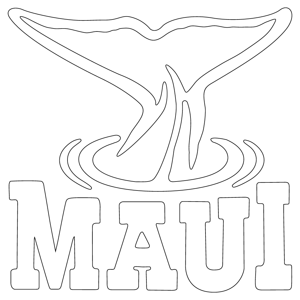 Inbloom Stickers Maui Whale Tail Car Sticker