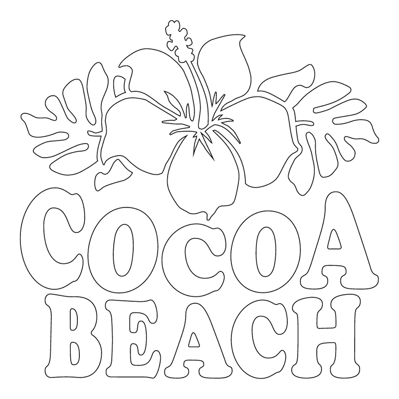 Inbloom Stickers Cocoa Beach Car Sticker
