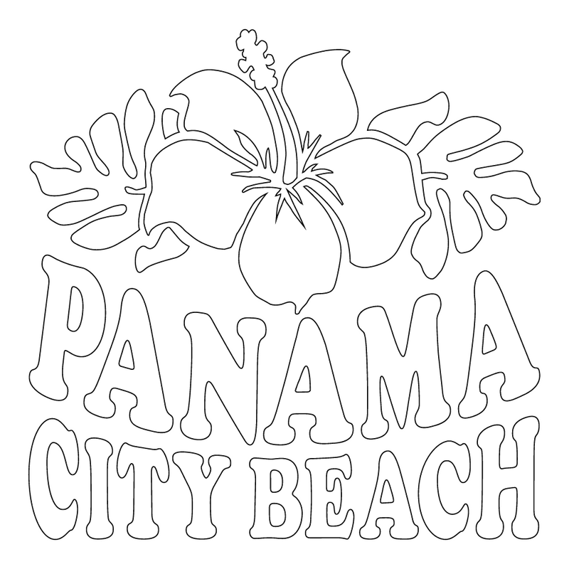 Inbloom Stickers Panama City Beach Car Sticker