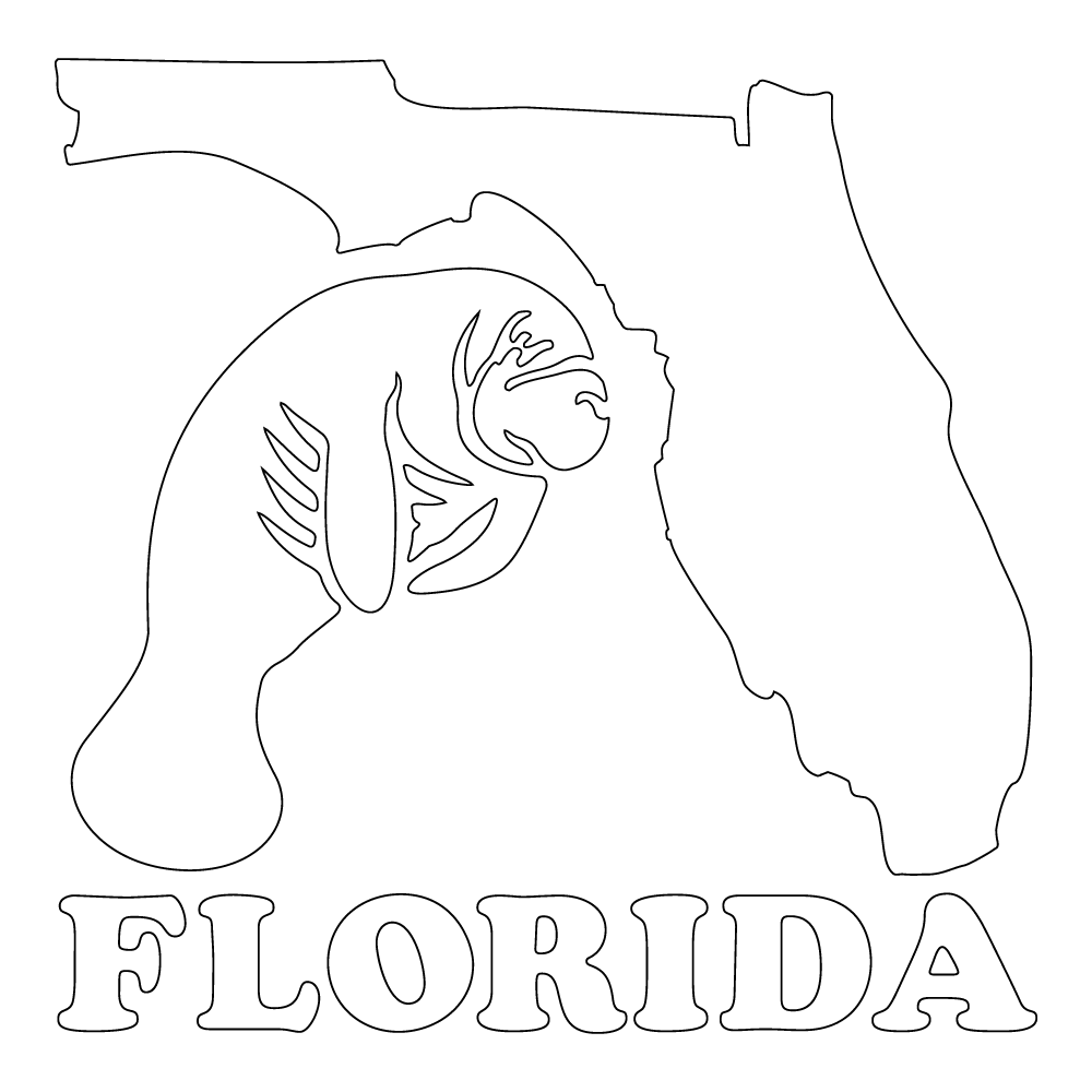 Inbloom Stickers Florida Manatee Car Sticker