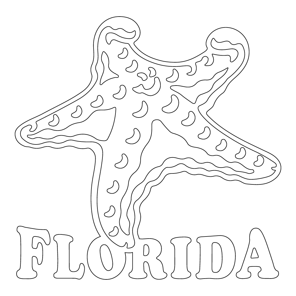 Inbloom Stickers Florida Starfish Car Sticker