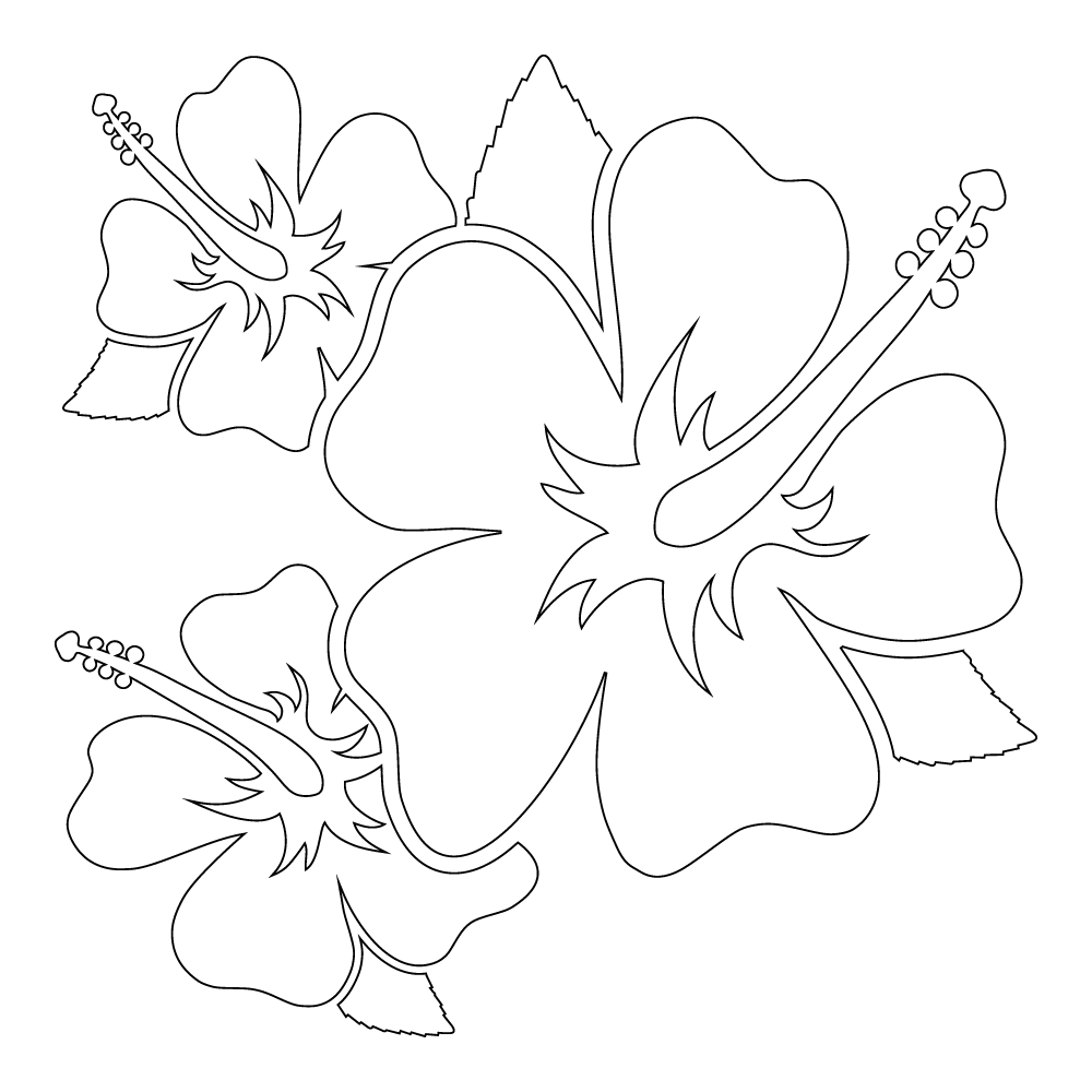 Inbloom Stickers Hibiscus Trio Car Sticker