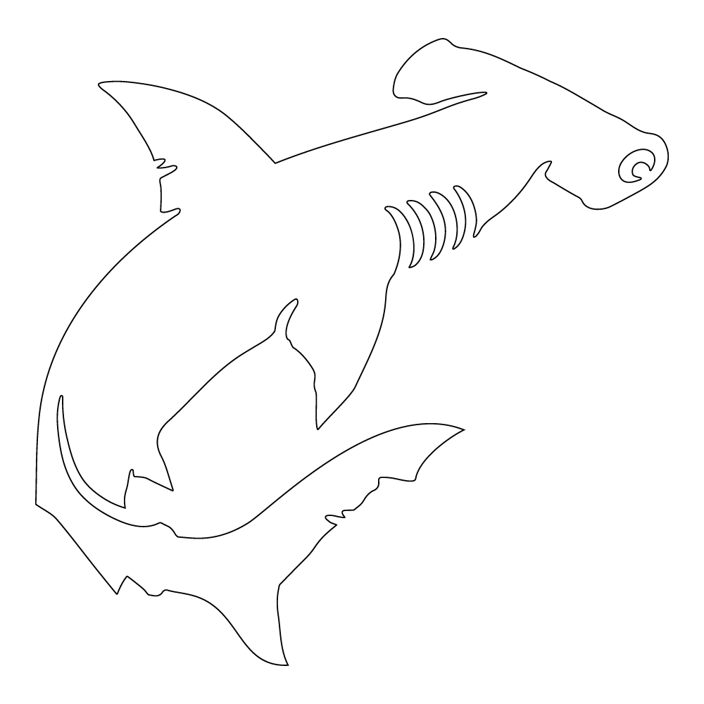 Inbloom Stickers Hammerhead Shark Car Sticker