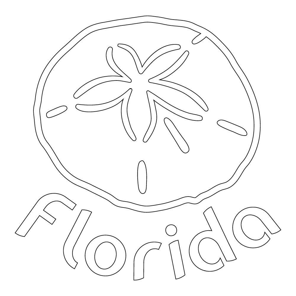 Inbloom Stickers Florida Sand Dollar Car Sticker
