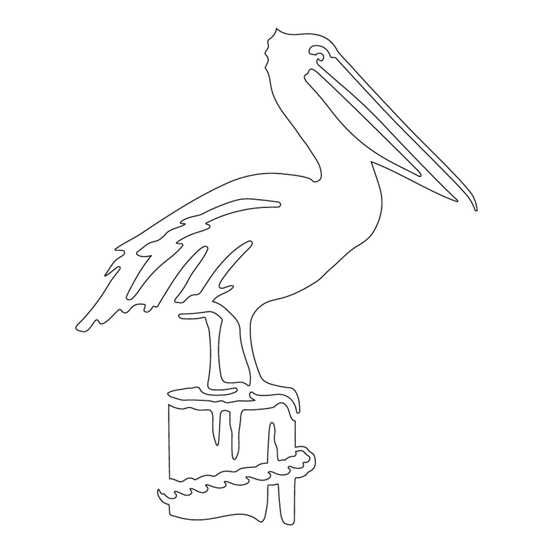 Inbloom Stickers Pelican Car Sticker