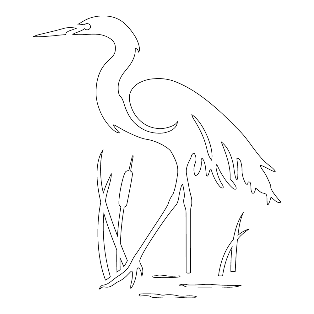 Inbloom Stickers Egret Car Sticker