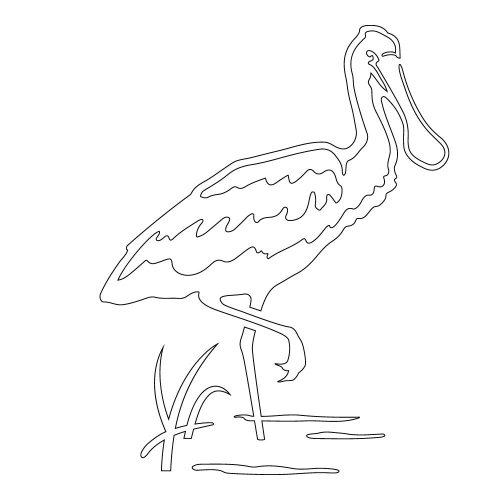 Inbloom Stickers Roseate Spoonbill Car Sticker