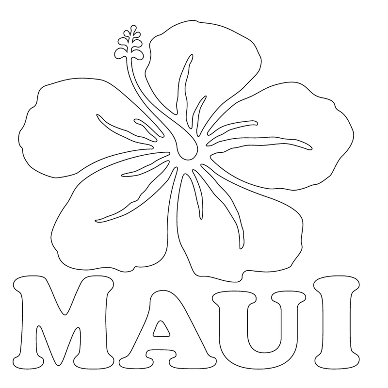 Inbloom Stickers Maui Hibiscus Car Sticker