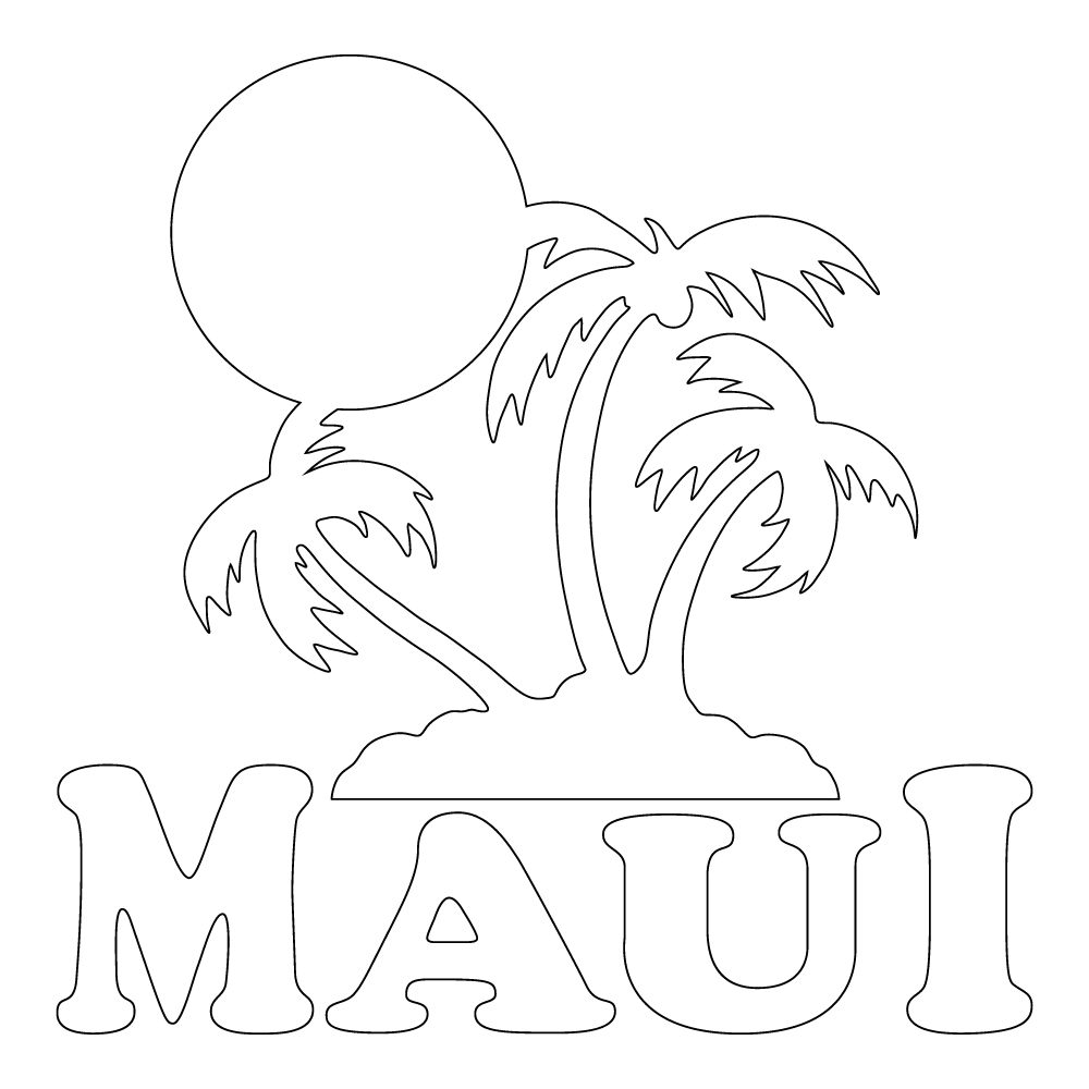 Inbloom Stickers Maui Sunset Car Sticker